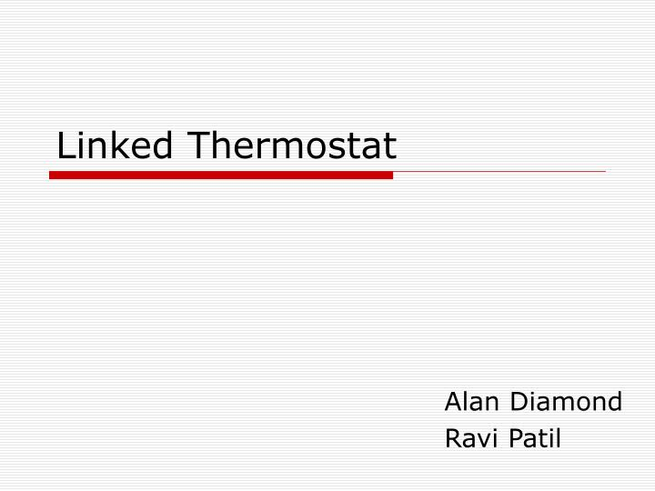 linked thermostat n.