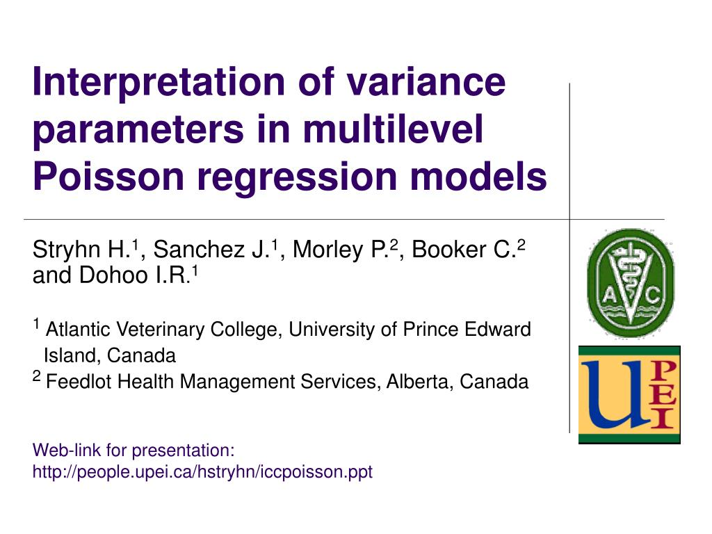 PPT - Interpretation of variance parameters in multilevel