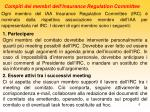 compiti dei membri dell insurance regulation committee