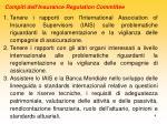 compiti dell insurance regulation committee