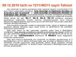 09 12 2010 tarih ve 7211 46311 say l talimat