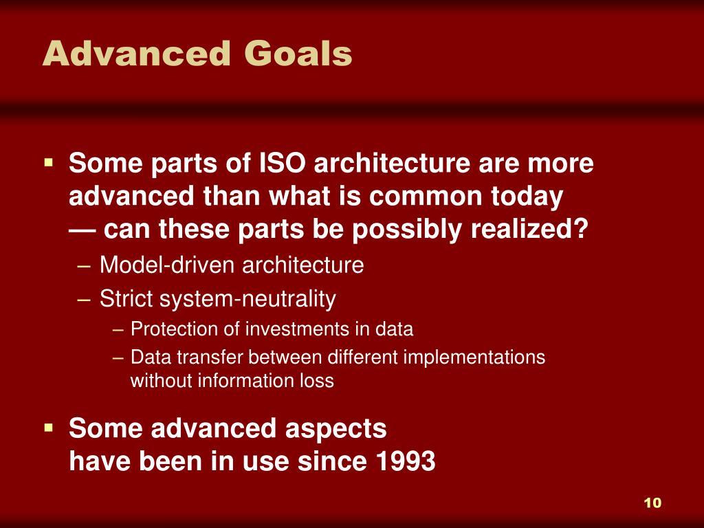 Advanced Goals