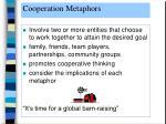 cooperation metaphors