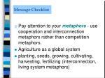 message checklist3