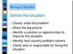 message checklist4
