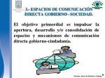 3 espacios de comunicaci n directa gobierno sociedad