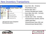 new inventory transactions