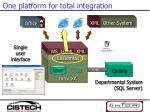 one platform for total integration1