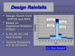 design rainfalls