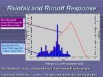 rainfall and runoff response