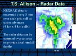 t s allison radar data