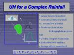 uh for a complex rainfall