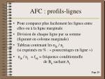 afc profils lignes