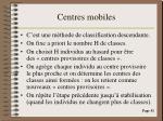 centres mobiles