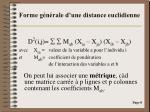 forme g n rale d une distance euclidienne