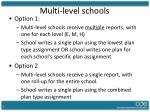 multi level schools