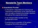 nonsterile team members cont