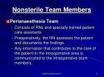 nonsterile team members