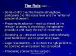 the role cont