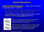 spatial dependency