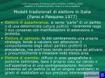 modelli tradizionali di elettore in italia parisi e pasquino 1977