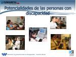 potencialidades de las personas con discapacidad