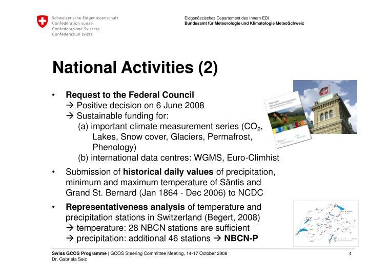 National activities 2