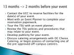 13 months 2 months before your event