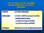 ley n 29356 ley del regimen disciplinario de la policia nacional
