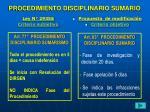 procedimiento disciplinario sumario