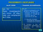 procedimiento disciplinario