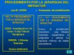 procedimiento por la jerarquia del infractor