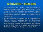 situacion analisis