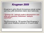 krugman 2009