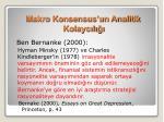 makro konsensus un analitik kolayc l