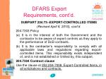 dfars export requirements cont d1