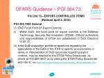 dfars guidance pgi 204 73