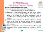 dfars required solicitation contract clause