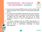 itar ear dfars why should i be concerned answers1