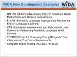 wida new development examples