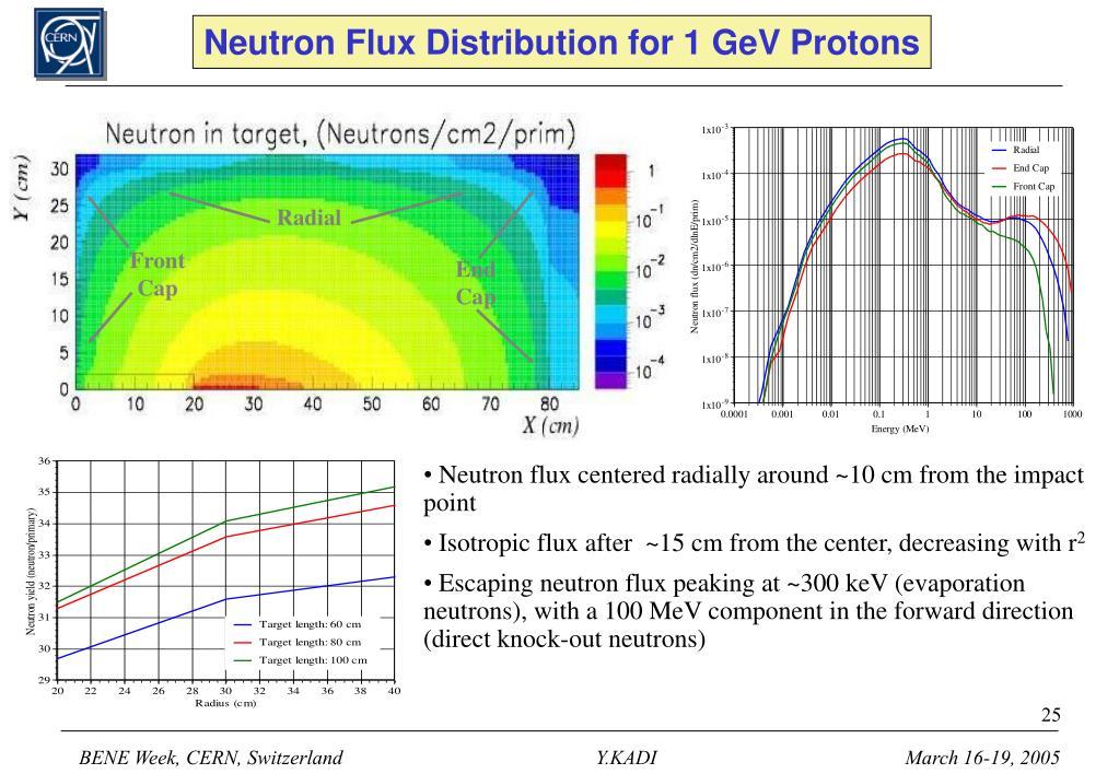 Neutron Flux Distribution for 1 GeV Protons