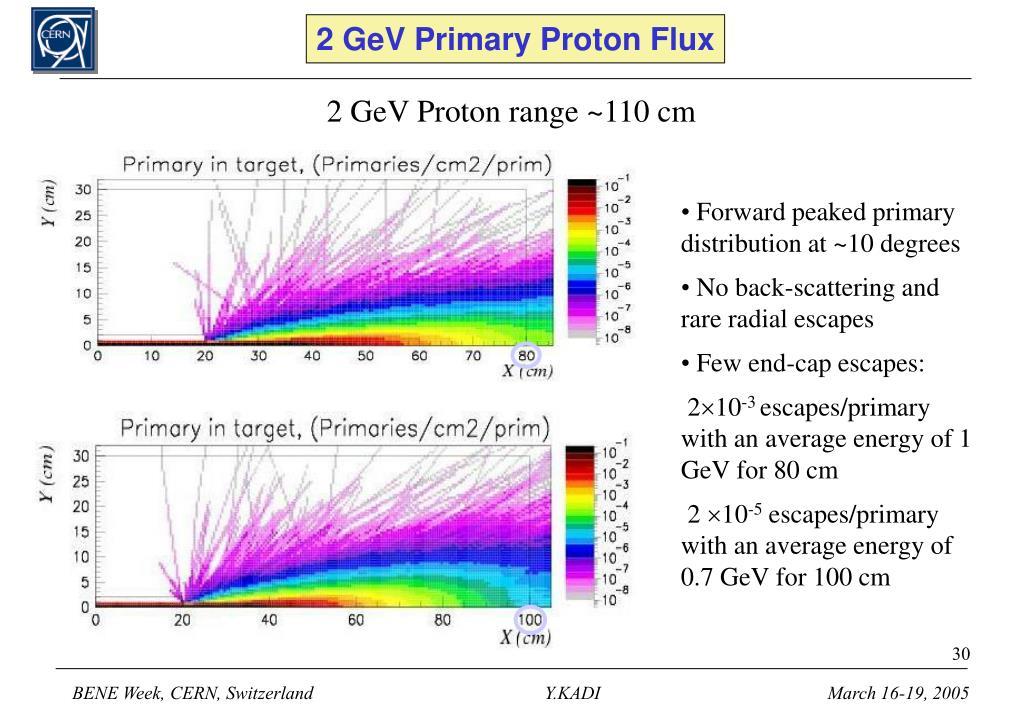 2 GeV Primary Proton Flux