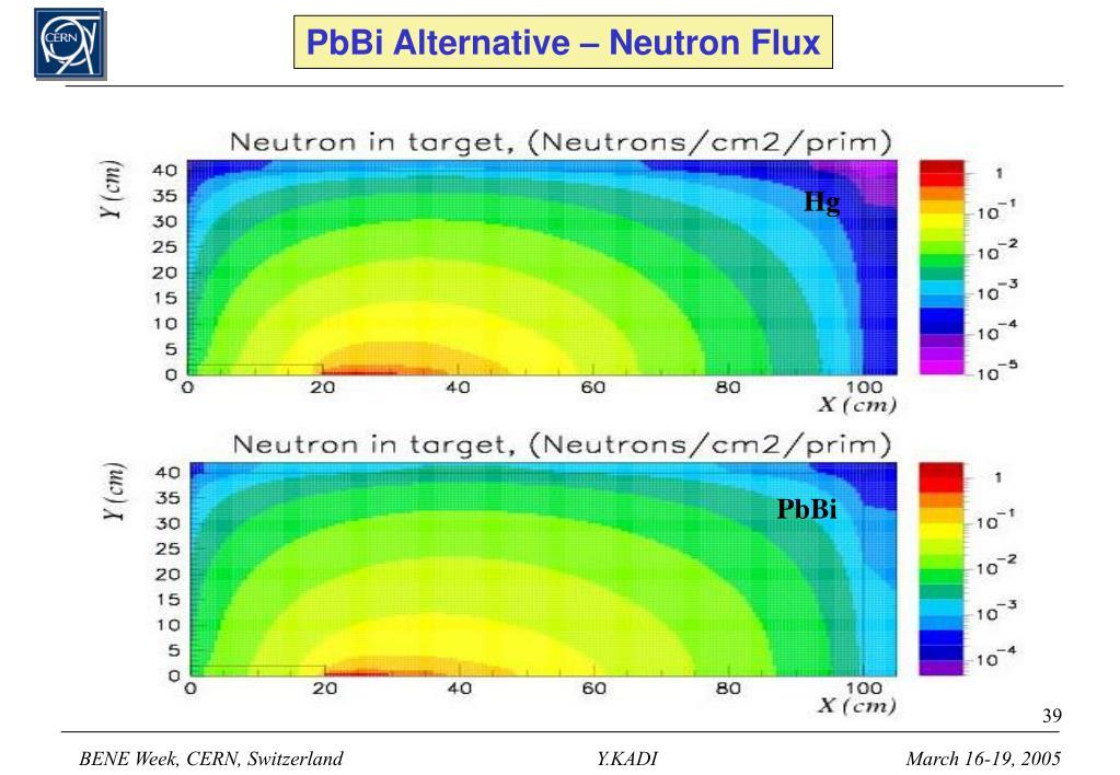 PbBi Alternative – Neutron Flux