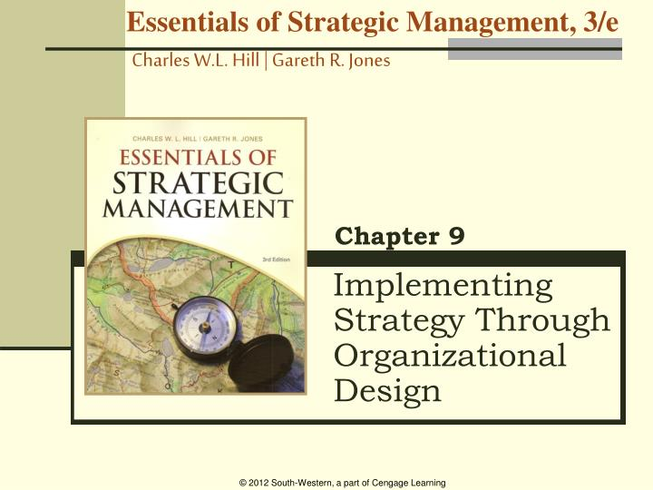 implementing strategy through organizational design n.