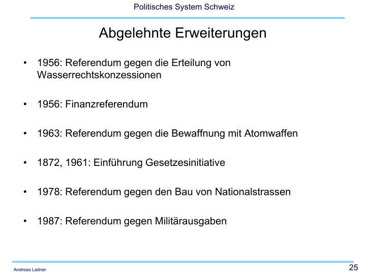 1956: Referendum gegen die Erteilung von Wasserrechtskonzessionen