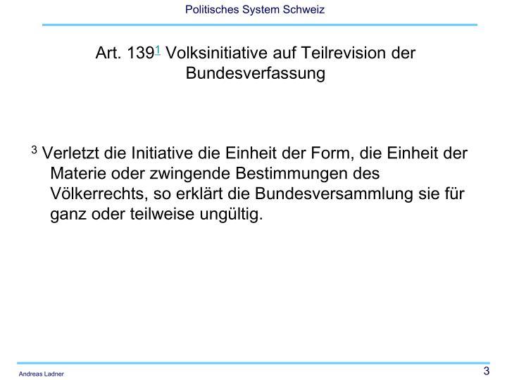 Art 139 1 volksinitiative auf teilrevision der bundesverfassung