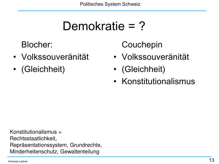 Blocher: