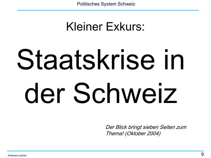 Staatskrise in der Schweiz