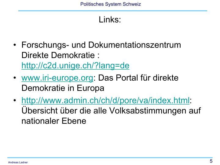 Forschungs- und Dokumentationszentrum Direkte Demokratie :