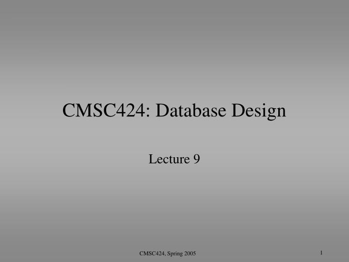 cmsc424 database design n.